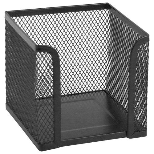 Axent куб для бумаги 100х100х100 мм, металлическая сетка черный