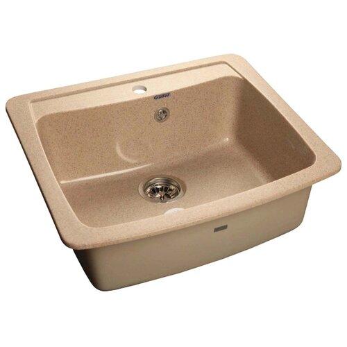 Врезная кухонная мойка 60.5 см GranFest Standart GF-S605 песочный