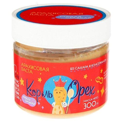 Король Орех Арахисовая паста Мягкая Сладкая 300 г король орех паста крем ореховая из фундука 200 г