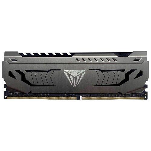 Оперативная память Patriot Memory VIPER STEEL DDR4 3200 (PC 25600) DIMM 288 pin, 16 GB 1 шт. 1.35 В, CL 16, PVS416G320C6 оперативная память patriot memory viper elite ddr4 2400 pc 19200 dimm 288 pin 16 gb 1 шт 1 2 в cl 16 pve416g240c6gy