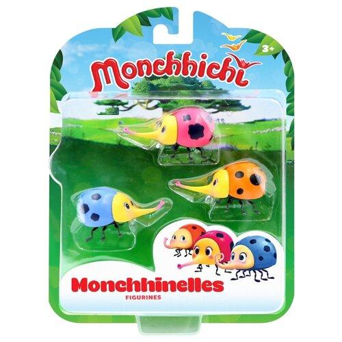 Фигурки Silverlit Monchhichi Мончижужи 81501 игровые фигурки monchhichi фигурки каури ханна вилли 3 в 1