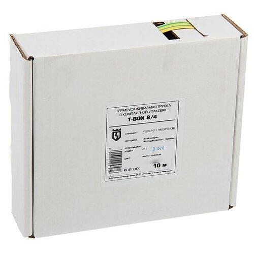 цена на Трубка усаживаемая (термоусадочная/холодной усадки) КВТ Т-BOX-8/4 (желто-зеленый) 8 / 4 мм