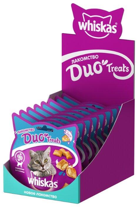 Лакомство для кошек Whiskas Duo Treats c лососем и сыром