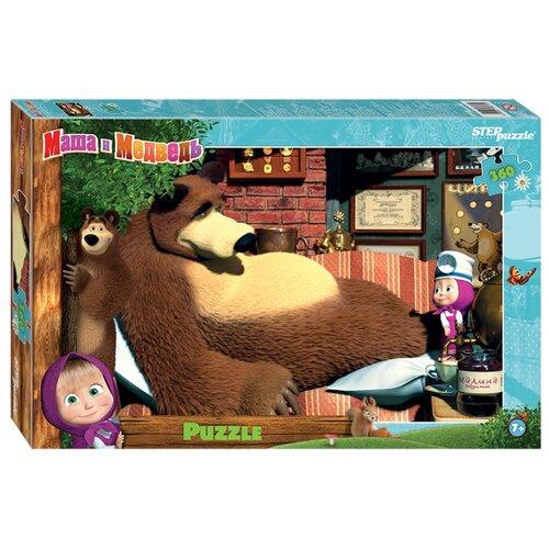 Купить Пазл Step puzzle Анимаккорд Маша и Медведь (96072), 360 дет., Пазлы