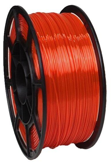 PETG пруток НИТ 1.75 мм оранжево-прозрачный флуоресцентный