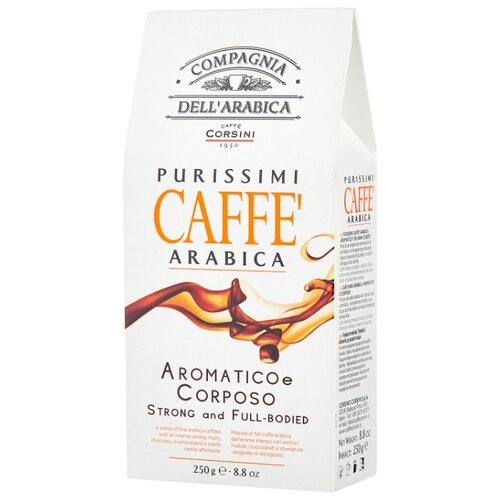 Фото - Кофе молотый Compagnia Dell` Arabica Purissimi Arabica Aromatico Corposo, 250 г кофе молотый compagnia dell arabica brasil santos 125 г