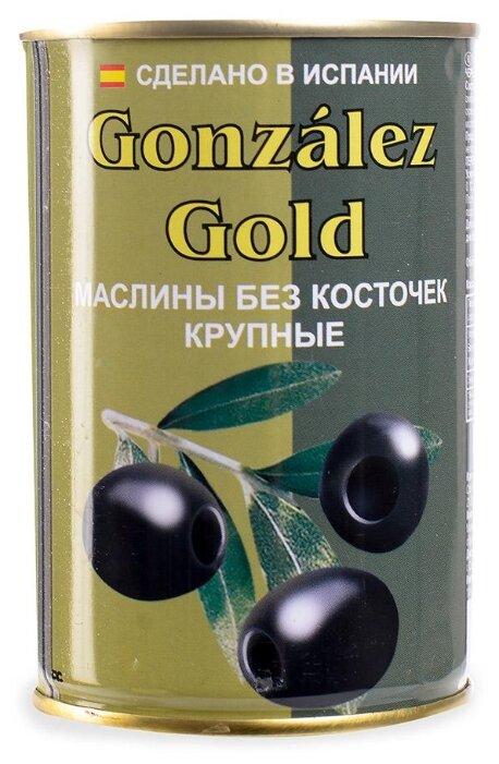 Aceitunas Gonzalez Маслины крупные без косточки, жестяная банка 425 г