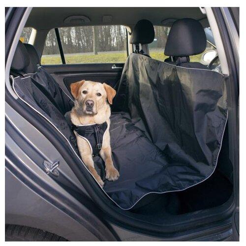 Автогамак для собак TRIXIE 13472 160х145 см черный автогамак для для перевозки собак auto premium на переднее сиденье 77048