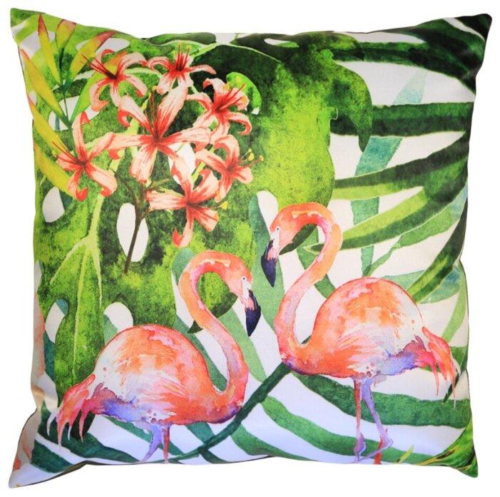 Gift'n'Home Подушка декоративная Gift n Home Два фламинго (зеленый фон) 35х35 см (PLW-35 2Flamingo(g))