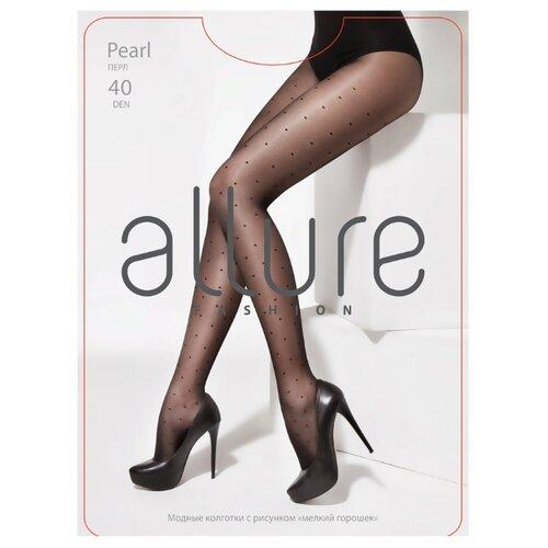 Колготки ALLURE Fashion Pearl 40 den, размер 3, nero (черный)