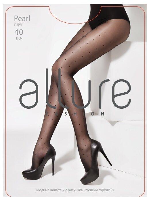 Купить Колготки ALLURE Fashion Pearl 40 den, размер 3, nero (черный) по низкой цене с доставкой из Яндекс.Маркета (бывший Беру)