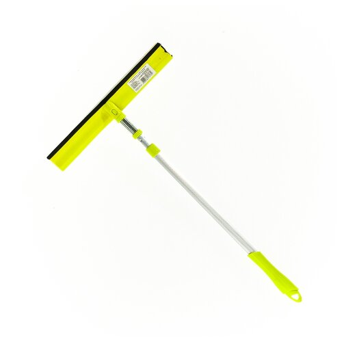 Стекломой HomeQueen 57373 с телескопической ручкой со съемной насадкой салатовый