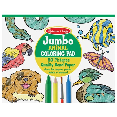 Купить Melissa & Doug Раскраска Животные (4200), Раскраски