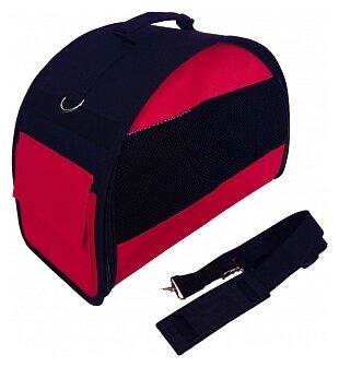 Переноска-сумка для кошек и собак LOORI Z8845 40х20х27 см красный