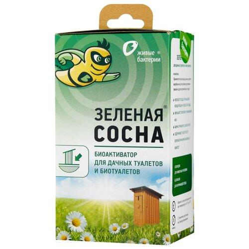 Живые бактерии Биоактиватор для выгребных ям Зеленая сосна 0.05 кг 12 шт.