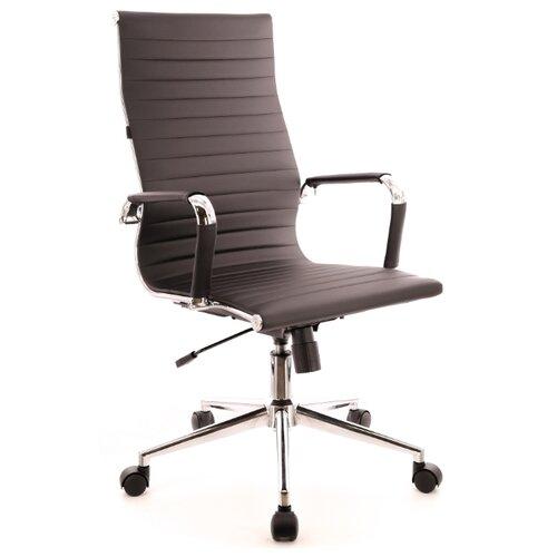 Фото - Компьютерное кресло Everprof Rio T для руководителя, обивка: искусственная кожа, цвет: черный компьютерное кресло everprof trend tm для руководителя обивка искусственная кожа цвет черный