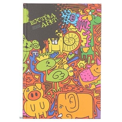 Фото - Блокнот Канц-Эксмо EXTRA ART. Разноцветное настроение А5+, 128 листов (ЕЖТ18512820) канц эксмо тетрадь канц эксмо а4 80 листов синяя клетка