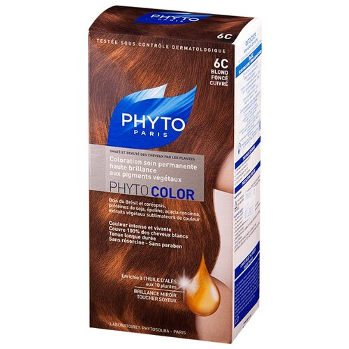 PHYTO Phytocolor краска для волос, 6C Темный медный блонд phyto для волос официальный сайт