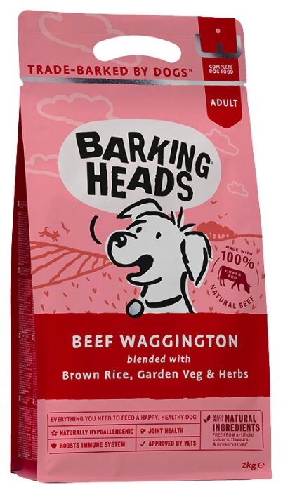 Корм для собак Barking Heads (2 кг) Beef Waggington