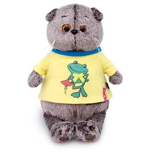 Купить Мягкая игрушка Basik&Co Кот Басик в футболке Лягушонок 25 см, Мягкие игрушки