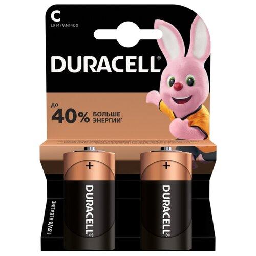 Фото - Батарейка Duracell Basic C/LR14, 2 шт. батарейка duracell basic aa 18 шт