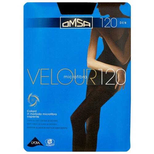 Колготки Omsa Velour 120 den, размер 3-M, nero (черный) колготки glamour velour 3 120 den черный