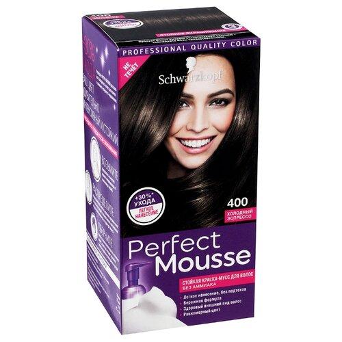 Schwarzkopf Perfect Mousse Стойкая краска-мусс для волос, 400, Холодный эспрессо