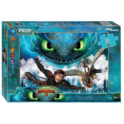 Купить Пазл Step puzzle DreamWorks MAXI Как приручить дракона - 3 (91234), 35 дет., Пазлы