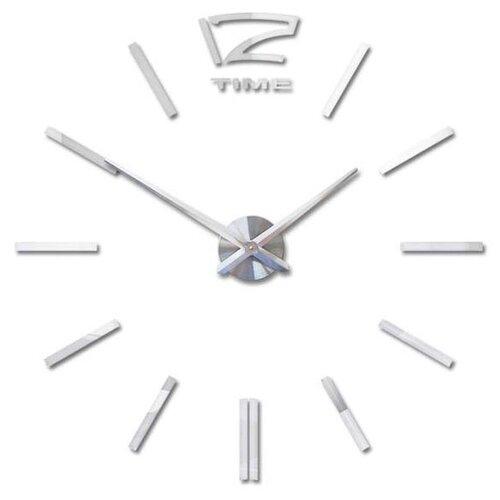 Часы настенные кварцевые 3D Decor Hard Wall Premium 100 см серебро часы настенные вега классика 28 5 см