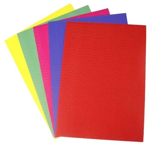 Цветная бумага гофрированная Волна bestex, 21х30 см, 5 л., 5 цв.