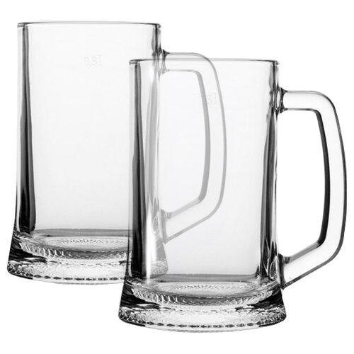 Luminarc Набор кружек для пива Drezden 500 мл 2 шт H5116 набор кружек д пива luminarc гамбург 2шт 330мл стекло