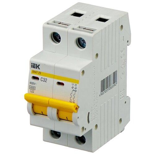 Автоматический выключатель IEK ВА 47-29 2P (C) 4,5kA 32 А автомат iek 3п c 40а ва 47 100