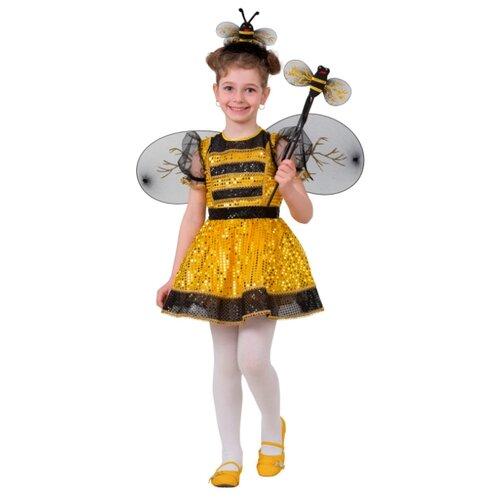 Купить Костюм Батик Пчелка (8024), желтый/черный, размер 128, Карнавальные костюмы