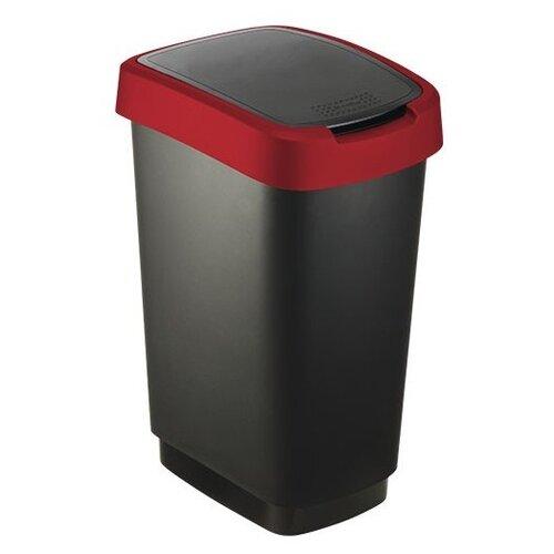 Ведро Rotho Twist 17545, 50 л черный/красный
