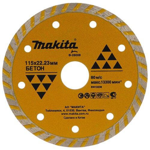 Диск алмазный отрезной 115x20 Makita B-28008 1 шт. алмазный диск makita 150х22 2мм economy b 28101