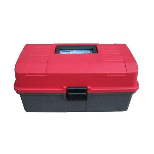 Ящик для рыбалки HELIOS двухполочный 33х20х16 см красный/серый