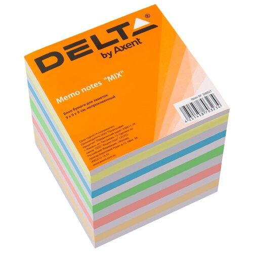Купить Axent Delta бумага для заметок 9х9х9 см непроклеенная (D8007/D8027) mix, Бумага для заметок