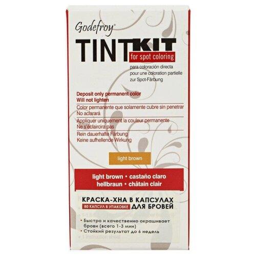 Godefroy Краска-хна синтетическая в капсулах для бровей Tint Kit 80 шт. light brown