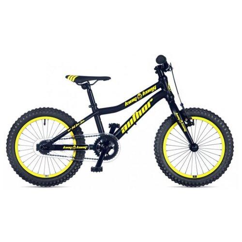 Детский велосипед Author King Kong 16 (2019) черный/желтый 9 (требует финальной сборки) дорожный велосипед author