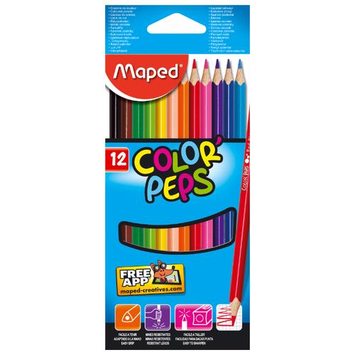 Купить Maped Цветные карандаши Color Peps 12 цветов (183212)