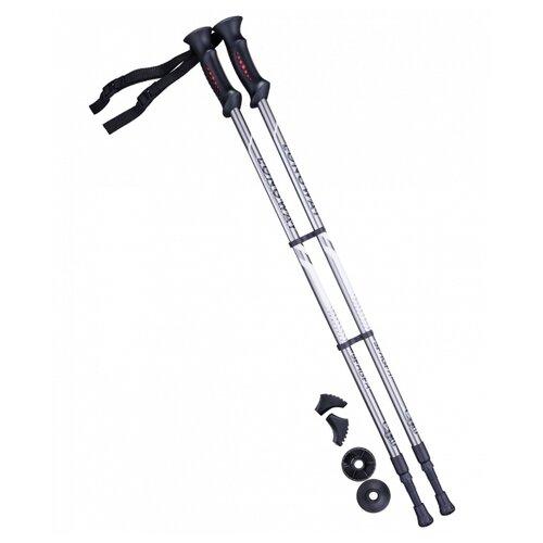 Палки для скандинавской ходьбы со сменными комплектующими BERGER Longway 2-секционная 77-135 см серый/черный