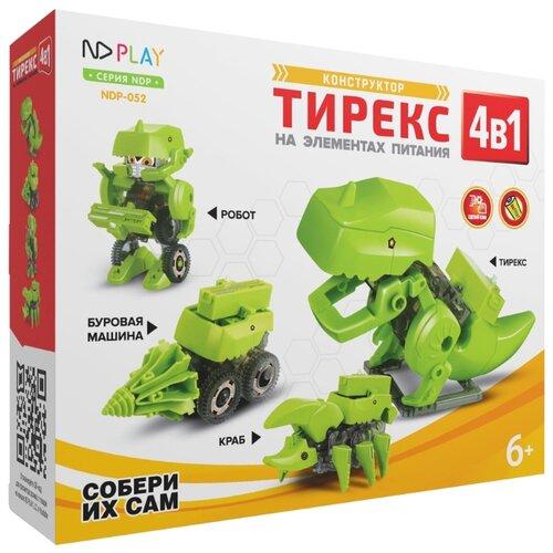 Электромеханический конструктор ND Play На элементах питания 277376 Тирекс 4 в 1 конструктор nd play nd play mp002xu02g3a