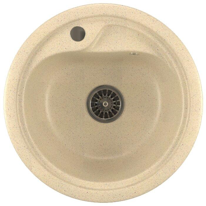 Врезная кухонная мойка Mixline ML-GM10 44х44см искусственный мрамор