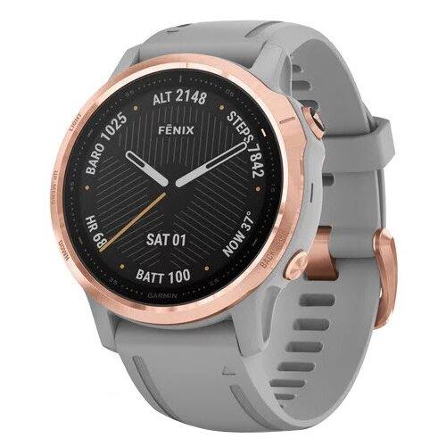 Умные часы Garmin Fenix 6S Sapphire, розовое золото/серый