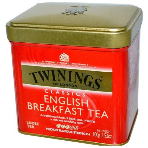 Чай черный Twinings Классический Английский завтрак листовой, 100 г агат черный листовой чай 100 г