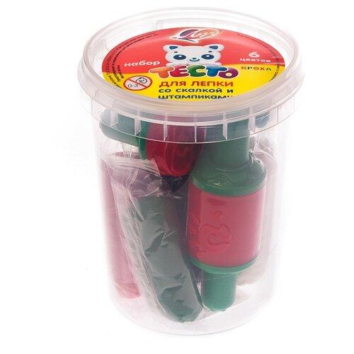 Купить Масса для лепки Луч Кроха Тесто для лепки со скалкой и штампиками 6 цветов (28С1679-08), Пластилин и масса для лепки