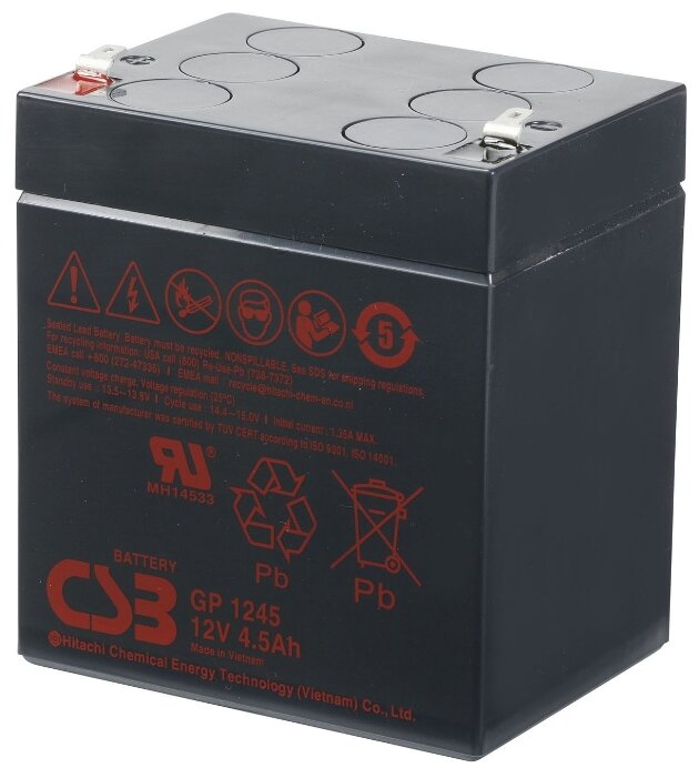 Аккумуляторная батарея CSB GP 1245 4.5 А·ч