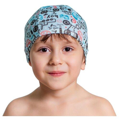 Шапочка для плавания Aruna Велосипед голубой с принтом шапочка для плавания nabaiji шапочка для плавания тканевая с принтом размер l черно–зеленая