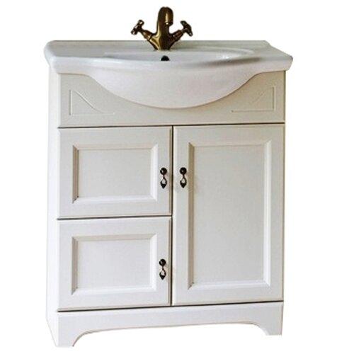 Тумба для ванной комнаты с раковиной Orange Классик F7-60TU3, ШхГхВ: 60х46х81 см, цвет: белый