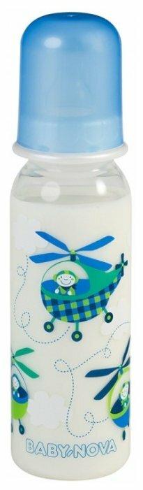 Baby Nova Бутылочка полипропиленовая Декор, 250 мл с рождения